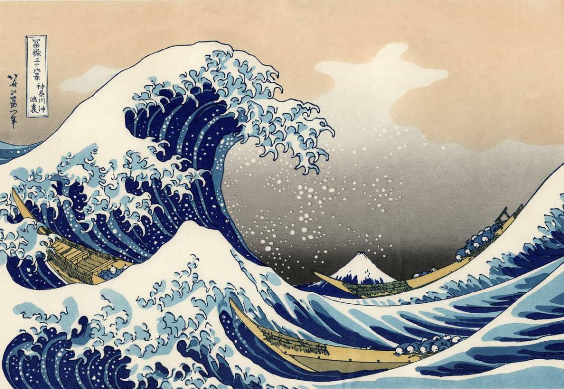 La vague de Kanazawa, par Hokusai