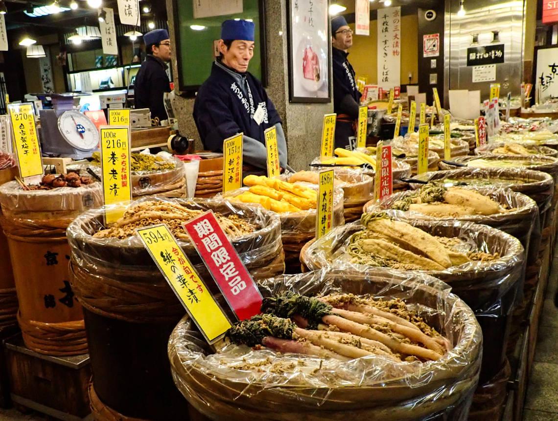 Marché de Nishiki, en plein coeur de Gion