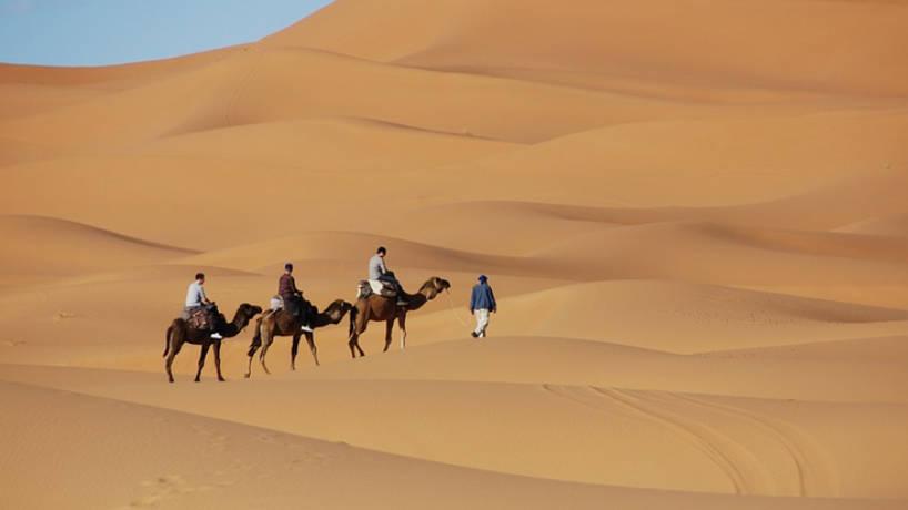 voyage dans les dunes au Maroc