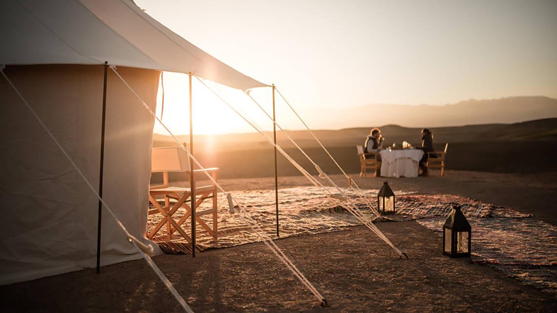 Bivouac de luxe dans le désert à deux pas de Marrakech