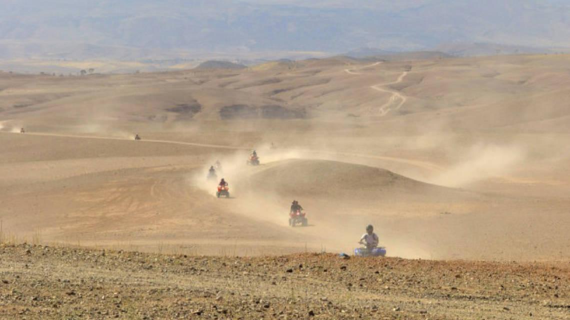 Expérience dans le désert marocain autour de Marrakech