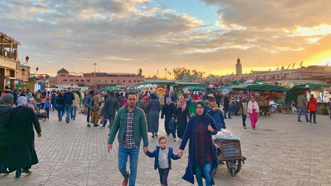La place Jemaa El Fna, poumon touristique de Marrakech
