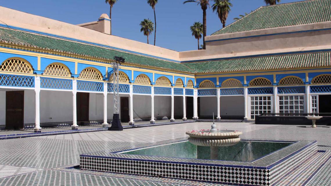 Palais de la Bahia à Marrakech, avec sa belle cour itérieure