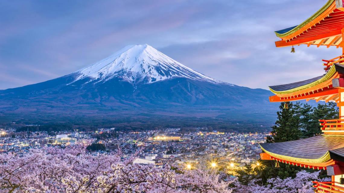 Mont fuji vu depuis la pagode