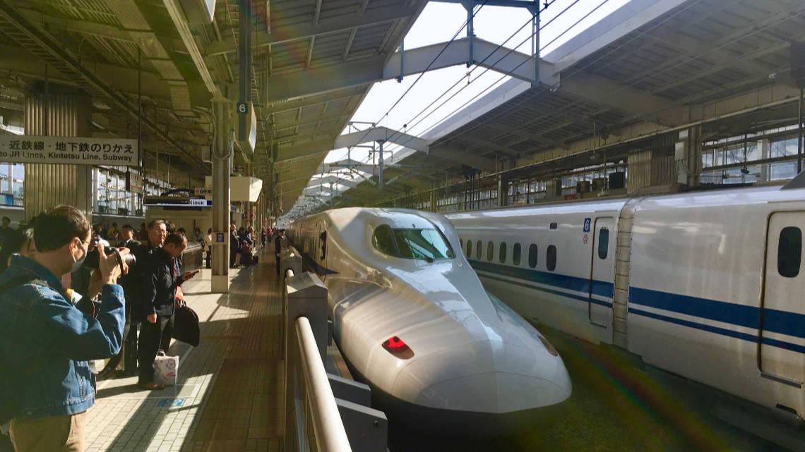 Shinkansen en gare de Kyoto