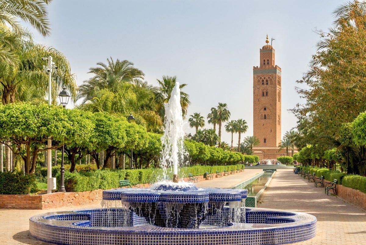 Mosquée de la Koutoubia depuis le petit jardin